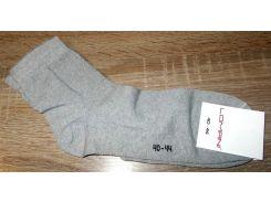 Носки мужские хлопок c широкой резинкой размер 40-44 серые
