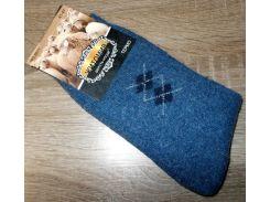Носки мужские Термо Зима ангора и шерсть размер 42-47 синие