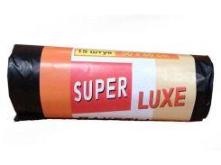 Мешки для мусора офисные 35л (15шт) Суперлюкс