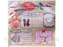 Свадебные салфетки на праздничный стол (ЗЗхЗЗ, 20шт) Luxy  Любовная  новость (153) (1 пач)