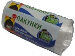 Мусорные пакеты белые 20л (50шт HD) Супер Торба