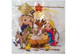 Салфетка бумажная декоративная Luxy Рождественская звезда