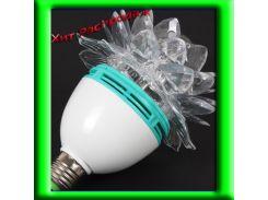 Светодиодная Дисколампа LED вращающаяся цветок+переходник