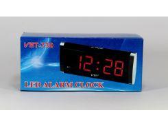 Часы VST 730 цыфры светят зеленым цветом