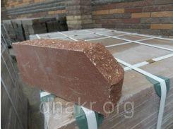 Кирпич гранитный-тычковой со скошенным гранитным  углом 230х100х65