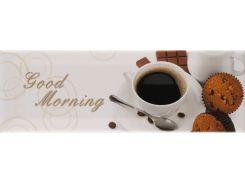 Декор Atem Florian 1 Coffee 10*30 Декор (Good Morning) 100x300 мм