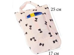 Кармашек для памперсов и влажных салфеток в детскую сумку Organize  бантики