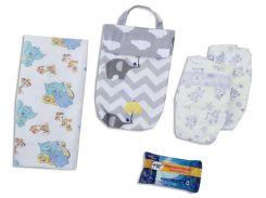 Кармашек для памперсов и влажных салфеток в детскую сумку Organize  слоники