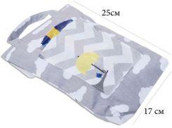 Кармашек для памперсов и влажных салфеток в детскую сумку Organize  зигзаги