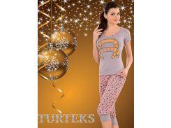 Комплект футболка + капри Turteks T4120 46 Разные цвета