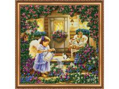 Набор для вышивки бисером на холсте «Ангелы»