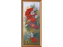 Набор для вышивки бисером на холсте «Полевые цветы»