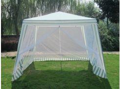 Садовый павильон 3х3м с москитной сеткой new