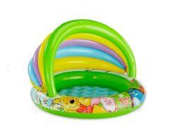 Детский надувной бассейн «Винни Пух» c навесом | «Intex»