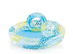 Детский надувной бассейн с кругом и мячом «Звезды» | «Intex»