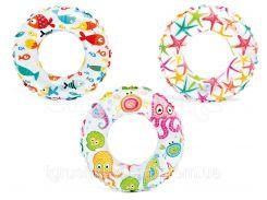 Детский надувной круг для плавания «Цветной» | «Intex»