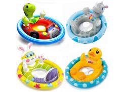 Детский надувной круг-плотик для плавания «Зверюшки» | «Intex»