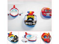 Детский надувной плотик для плавания «Транспорт» | «Intex»
