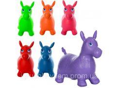 Прыгуны-лошадки резиновые   цветные