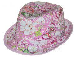 Шляпа детская челентанка комби симфония розовая