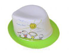 Шляпа детская челентанка фотопринт зеленая лужайка