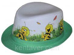 Шляпа детская челентанка фотопринт пчелка Майя