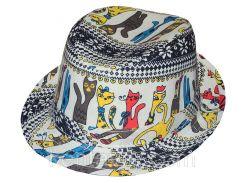 Шляпа детская челентанка комби коты