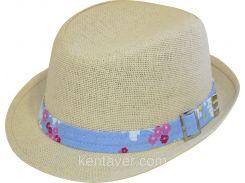 Шляпа детская челентанка солома незабудка