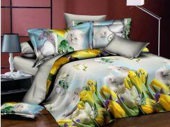 Комплект постельного белья 3D Febe MSP-901-2, 160x200 см Желтый