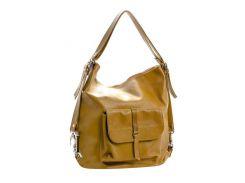 Женская кожаная сумка-рюкзак Cavaldi S0080 Желтый