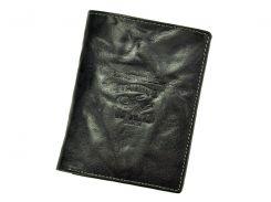 Мужской кожаный кошелек Wild N4-BC Черный