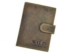 Мужской кожаный кошелек Wild N890L-MHU Коричневый