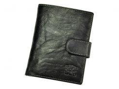 Мужской кожаный кошелек Wild N4L-BC Черный