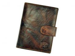Мужской кожаный кошелек Wild N4L-BC Коричневый