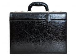 Мужской кожаный портфель-дипломат Gregorio N11S Exclusive Черный