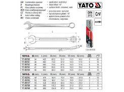 Ключ комбинированный  ключ комбінований до гайок YATO-00761