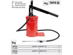 Насос помпа мастильна місткістю 8 кг сопло шланг l= 15 м P= 138 MPa YATO-07063