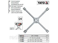 Ключ хрестоподібний для коліс зміцнений М17х19х21х22 мм YATO-0800