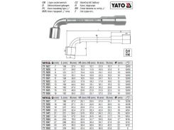 Ключ торцевий (тип L) М=32 мм l=339 мм YATO-1650