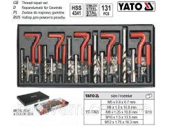 Набор инструмента ремонта резьбы М5-М12 мм 131 предмет YATO-1763