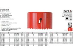 Пила кольцевая кільцева бі-металева YATO HSS M3 Ø=105мм YATO-3346