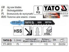 Набор полотно для електролобзика (метал) 12TPI l=75мм 5шт YATO-3413
