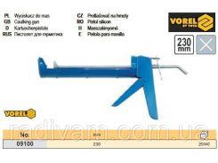 Пистолет пістолет силікону напівтрубовидний l= 230 мм VOREL-09100
