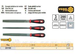 Набор напильник l=200мм 3шт VOREL-25165
