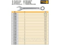 Ключ рожково - накидний М 24 мм VOREL-51240