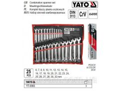 Набор ключей комбинированных 6-32 мм 25 штук YATO-0365