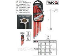 Набор шестигранники Т10-Т50 CrV 9шт ТОRХ TAMPERPROOF YATO-0563