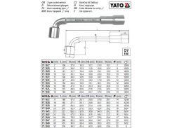 Ключ торцевий (тип L) М=22 мм l=232 мм YATO-1642