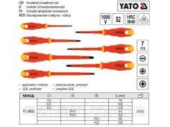 Набор отвертки викрутки діелектричні ізольовані 1000 V 7 шт YATO-2828