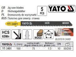 Полотно для електролобзика (дерево-пластик) l=100мм YATO-3401